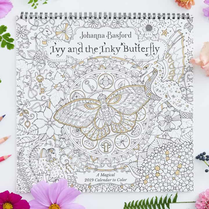 2019 Ivy and the Inky Butterfly Wall Calendar